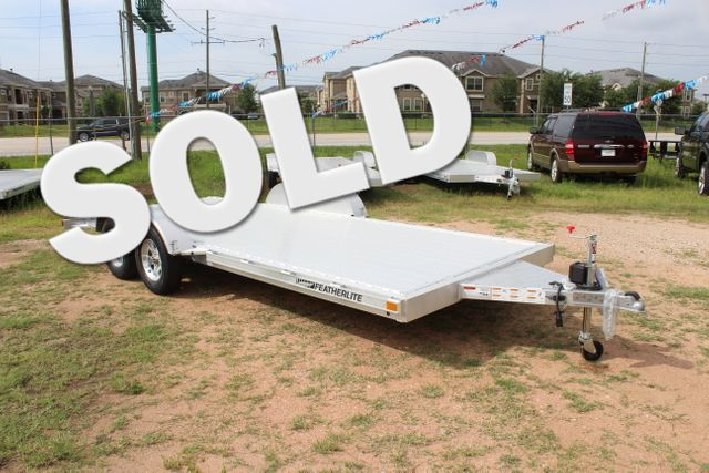 2019 Featherlite 3182 - 18 18' OPEN CAR TRAILER WITH ALUMINUM WHEELS CONROE, TX 0