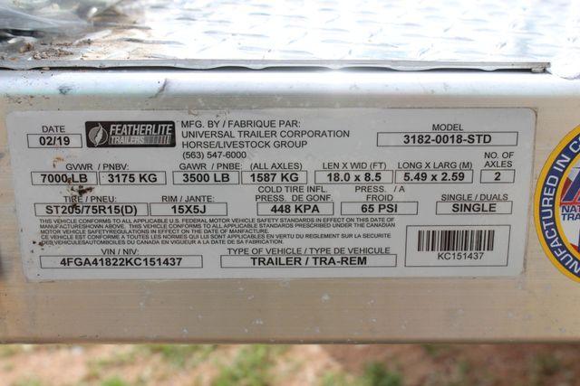 2019 Featherlite 3182 - 18 18' OPEN CAR HAULER WITH ALUMINUM WHEELS CONROE, TX 14