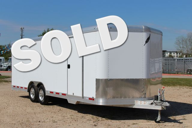 2019 Featherlite 4926 24' - ENCLOSED CAR HAULER BUMPER PULL WITH SPARE CONROE, TX 0