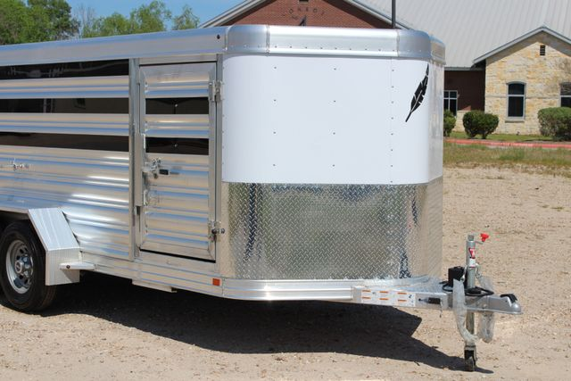 2019 Featherlite 8107 16' LO-PRO STOCK TRAILER SLIDING CUT GATES CONROE, TX 2