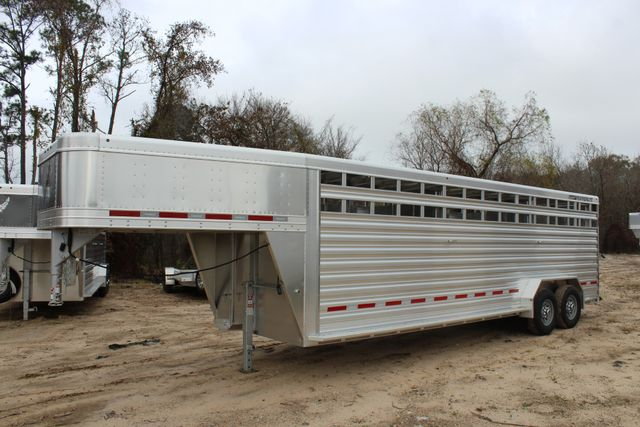 2019 Featherlite 8127 - 24 24' LIVESTOCK CATTLE GN TRAILER WITH 2 CUT GATES CONROE, TX 4
