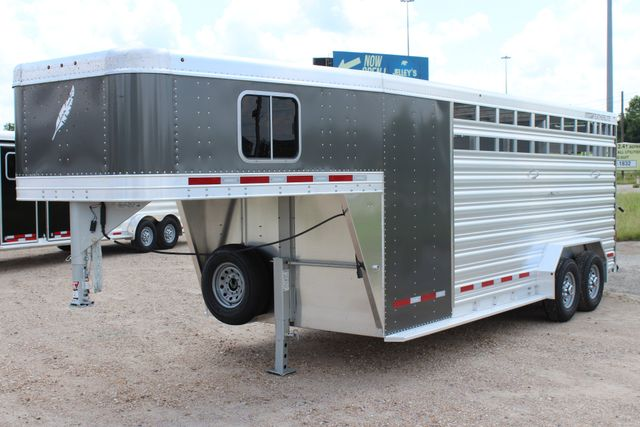 2019 Featherlite 8413 - STOCK/ COMBO 20' - Straight Wall Tack CONROE, TX 7