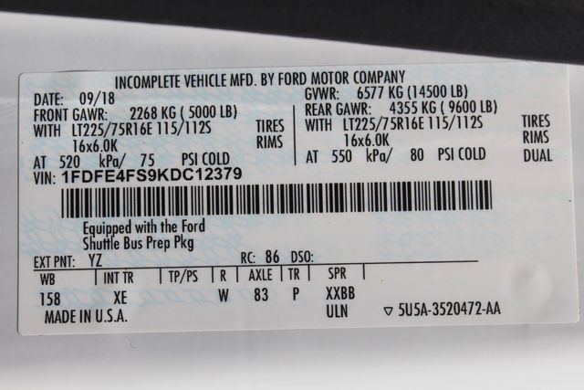 2019 Ford E450 26 Passenger Starcraft Shuttle Bus *Under Warranty* Irving, Texas 59
