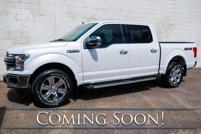 2019 Ford F-150 Lariat Crew Cab 4x4 w/Ecoboost, Adaptive Cruise, Backup Assist, Heated/Cooled Seats & 20s