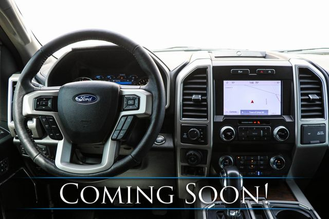 2019 Ford F-150 Lariat Crew Cab 4x4 w/Ecoboost, Adaptive Cruise, Backup Assist, Heated/Cooled Seats & 20s in Eau Claire, Wisconsin 54703