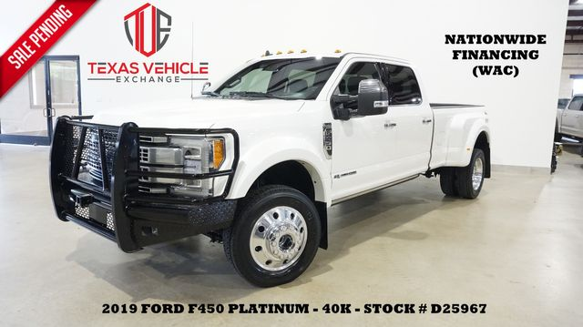 2019 Ford F-450 DRW Platinum 4X4 PANO ROOF,360 CAM,HTD/COOL LTH,40K