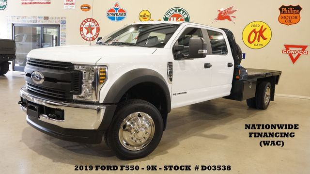 2019 Ford F-550 DRW Chassis Cab XL 4X4 DIESEL,BACK-UP CAM,CM FLATBED,9K