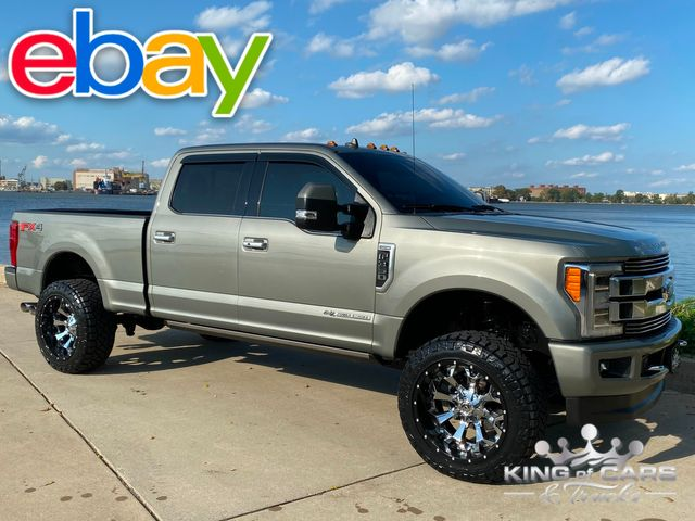 2019 Ford F350 Crew Srw 6.7L DIESEL 4X4 LIMITED SILVER SPRUCE ONLY 20K MILE