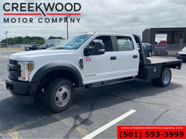 2019 Ford Super Duty F-450 XLT 4x4 Diesel Dually Flatbed 1 Owner White NICE