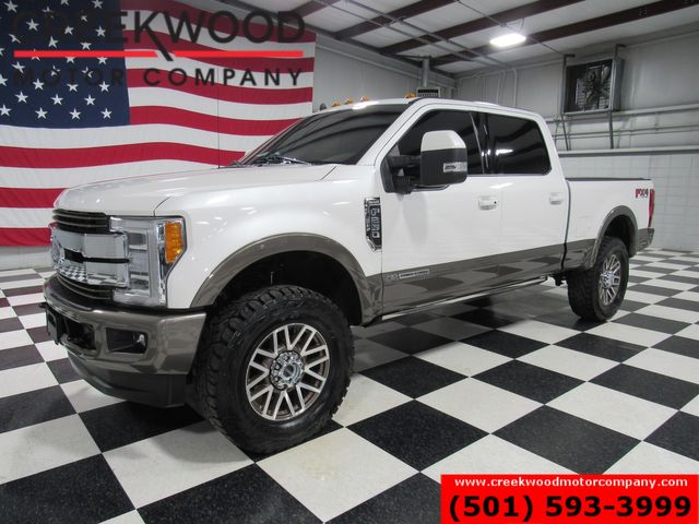 2019 Ford Super Duty F-250 King Ranch 4x4 Diesel Leveled Pano Roof White Nav