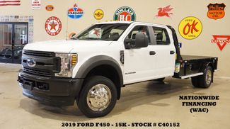 2019 Ford F-450 DRW Chassis Cab XL 4X4 DIESEL,CADET FLATBED,15K in Carrollton, TX 75006