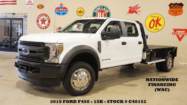 2019 Ford F-450 DRW Chassis Cab XL 4X4 DIESEL,CADET FLATBED,15K