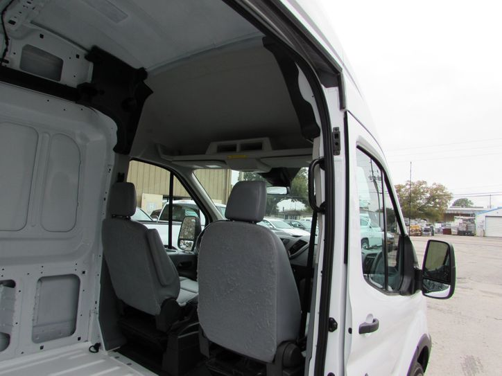ford transit cargo van right side view from sliding door