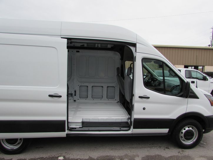 ford transit high top extended cargo right side sliding door interior view