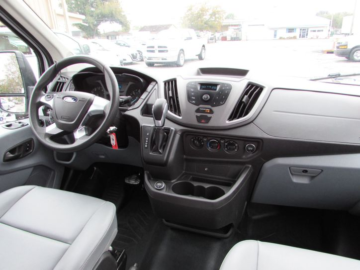 ford transit cargo van drivers site interior view