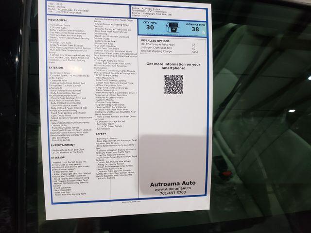 2019 Honda Accord EX 1.5T Warranty in Dickinson, ND 58601