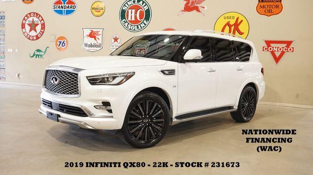 2019 Infiniti QX80 LIMITED AWD ROOF,360 CAM,REAR DVD,HTD/COOL LTH,22K