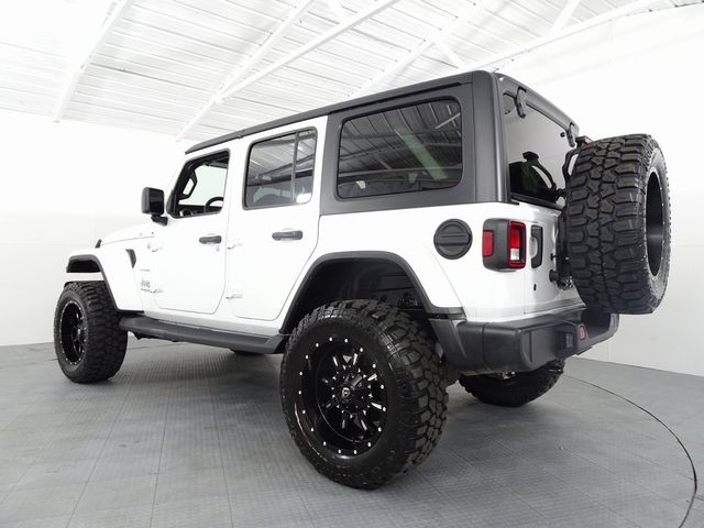 2019 Jeep Wrangler Unlimited Sahara LIFT/CUSTOM WHEELS AND TIRES in McKinney, Texas 75070