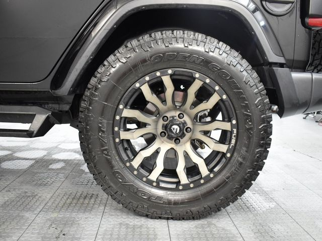 """2019 Jeep Wrangler Unlimited Sahara CUSTOM WHEELS AND TIRES """"Tow R... in McKinney, Texas 75070"""