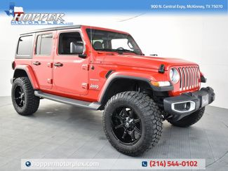 2019 Jeep Wrangler Unlimited Sahara NEW CUSTOM LIFT/WHEELS AND TIRES in McKinney, Texas 75070