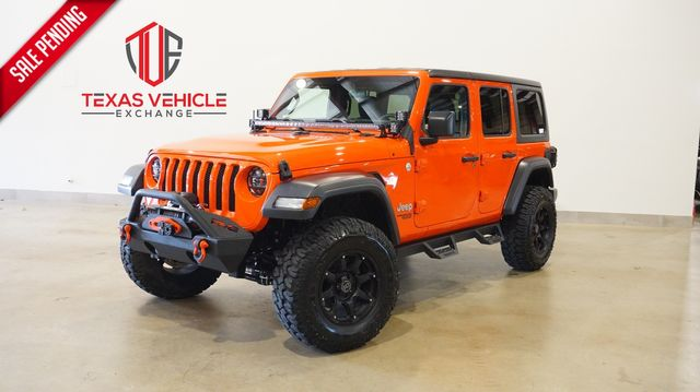 2019 Jeep Wrangler Unlimited Sport 4X4 AUTO,LIFTED,LED'S,HTD LTH,22K