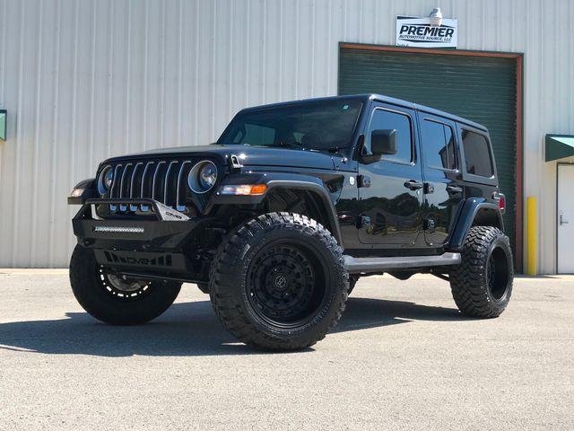 2019 Jeep Wrangler Unlimited Sahara New 3'' Lift Black Rhino wheels 35's LED's