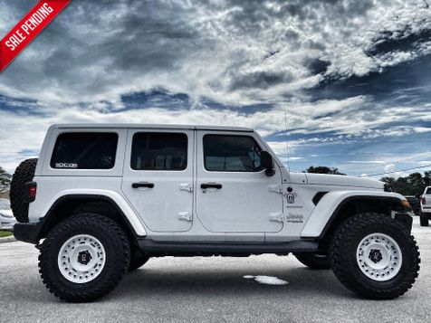 2019 Jeep Wrangler Unlimited V6 CUSTOM LIFTED LEATHER SAHARA HARDTOP OCD DV8  in Plant City, Florida