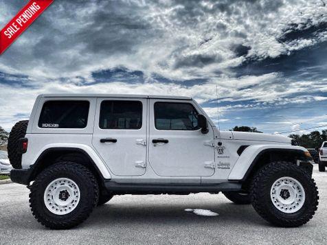 2019 Jeep Wrangler Unlimited V6 CUSTOM LIFTED LEATHER SAHARA HARDTOP OCD DV8  in Plant City, Florida