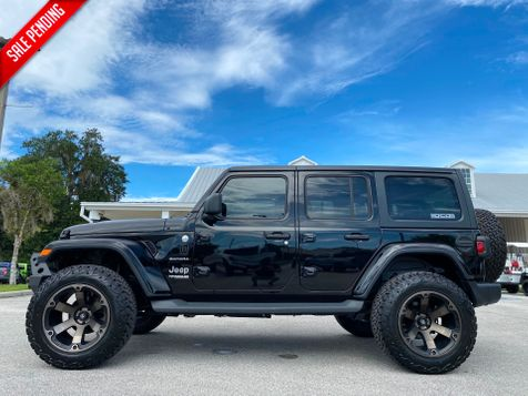 2019 Jeep Wrangler Unlimited BLACK BEAST LIFTED SAHARA LEATHER HARDTOP V6 in Plant City, Florida