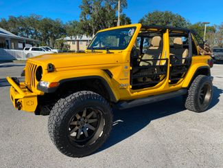 2019 Jeep Wrangler Unlimited HELLAYELLA TURBO SAHARA LEATHER BLACK RHINOs  Plant City Florida  Bayshore Automotive   in Plant City, Florida
