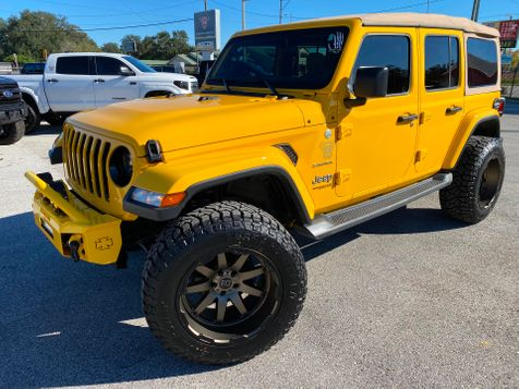 2019 Jeep Wrangler Unlimited HELLAYELLA TURBO SAHARA LEATHER BLACK RHINOs in Plant City, Florida