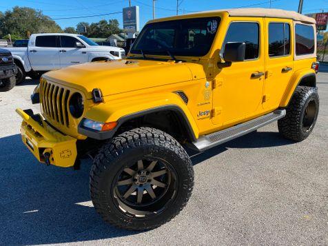 2019 Jeep Wrangler Unlimited HELLAYELLA TURBO SAHARA LEATHER BLACK RHINOs in Plant City, Florida
