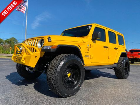 2019 Jeep Wrangler Unlimited HELLA YELLA CUSTOM LIFTED LEATHER SAHARA in , Florida