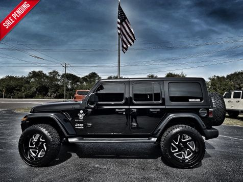 2019 Jeep Wrangler Unlimited CUSTOM LIFTED BLACK-OUT SAHARA FAB FOUR MOTO in , Florida