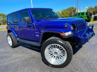 2019 Jeep Wrangler Unlimited CUSTOM LIFTED SAHARA LEATHER NAV FAB FOUR  Plant City Florida  Bayshore Automotive   in Plant City, Florida
