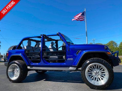 2019 Jeep Wrangler Unlimited CUSTOM LIFTED SAHARA LEATHER NAV FAB FOUR in Plant City, Florida