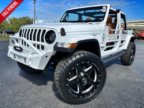2019 Jeep Wrangler Unlimited CUSTOM LIFTED WHITE-OUT SAHARA LEATHER NAV in Plant City, Florida