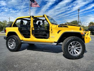 2019 Jeep Wrangler Unlimited HELLAYELLA CUSTOM LIFTED SAHARA LEATHER NAV   Florida  Bayshore Automotive   in , Florida