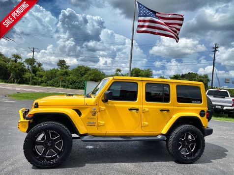 2019 Jeep Wrangler Unlimited HELLAYELLA CUSTOM LIFTED SAHARA LEATHER NAV in Plant City, Florida