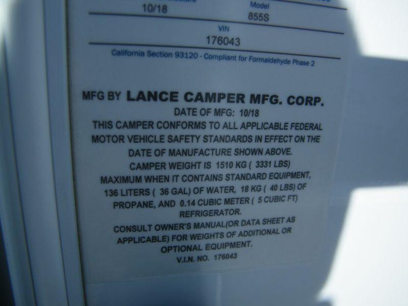 2019 Lance 855S  in Surprise, AZ