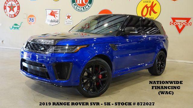 2019 Land Rover Range Rover Sport SVR MSRP 138K,HUD,ROOF,360 CAM,22'S,5K