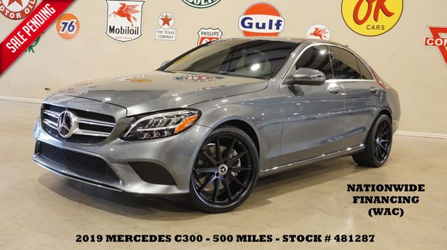 2019 Mercedes-Benz C 300 Sedan MSRP 46K,ROOF,BACK-UP CAM,HTD LTH,535 MILES