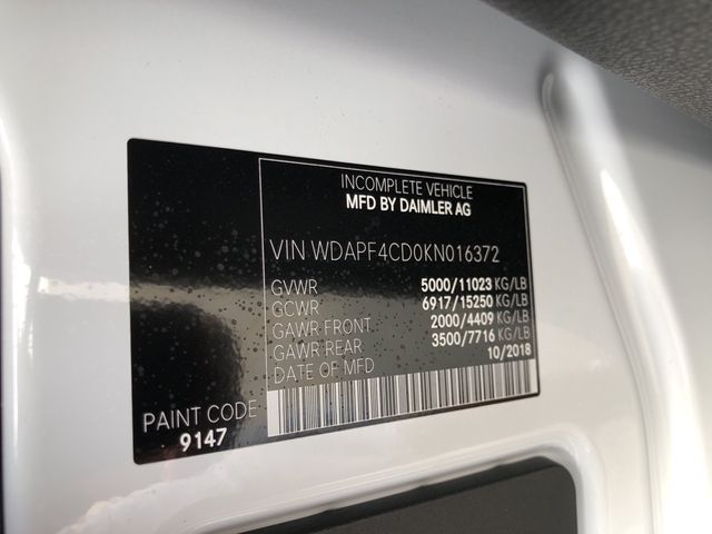 2019 Mercedes-Benz Sprinter Cab Chassis Cab Chassis 144 WB Madison, NC 23
