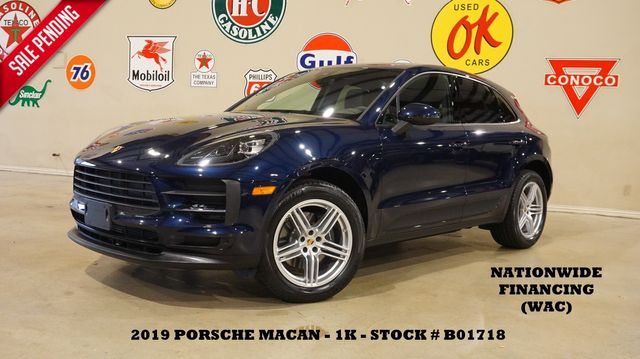 2019 Porsche Macan MSRP 59K PANO ROOF,NAV,BACK-UP CAM,HTD LTH,1K
