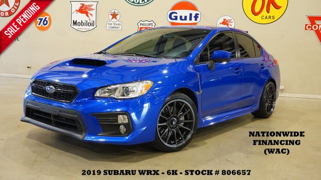 2019 Subaru WRX Premium AWD 6 SPD,ROOF,BACK-UP CAM,COBB PARTS,6K