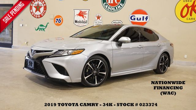 2019 Toyota Camry XSE V6 HUD,PANO ROOF,NAV,360 CAM,HTD LTH,34K