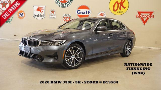 2020 BMW 330i Sedan MSRP 45K,SUNROOF,NAV,BACK-UP CAM,LEATHER,3K