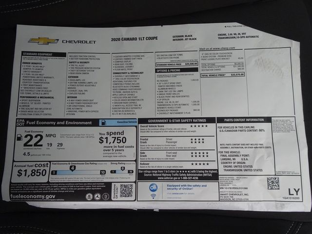2020 Chevrolet Camaro 1LT Madison, NC 37
