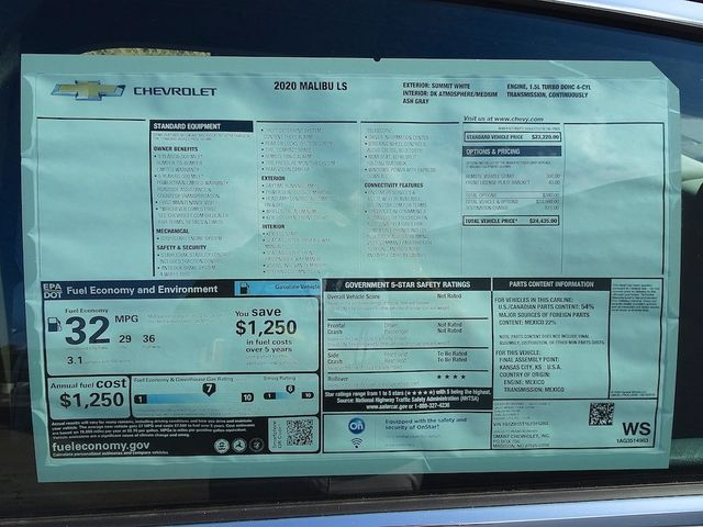 2020 Chevrolet Malibu LS Madison, NC 41