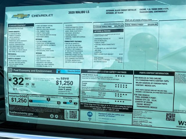2020 Chevrolet Malibu LS Madison, NC 18